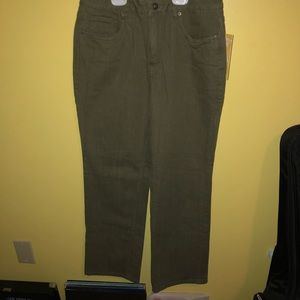 Cold water Creek Army Green jeans.